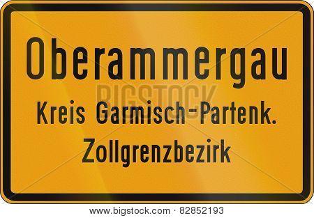 Town Sign Oberammergau