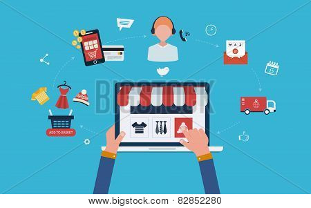 Mobile marketing and online store