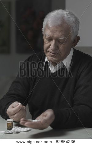 Senior Taking Pills