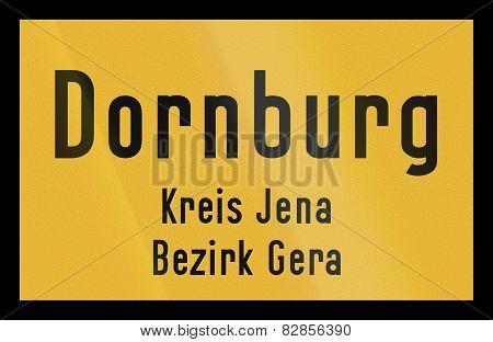 Town Sign Dornburg
