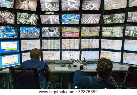 Control Room Of The Attraction Grand Russian Layout.