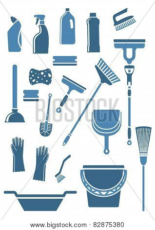 Domestic cleaning tools and supplies