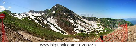 Aibga ridge, the first peak (panorama)