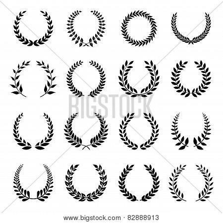 Vector Laurel Wreaths Set