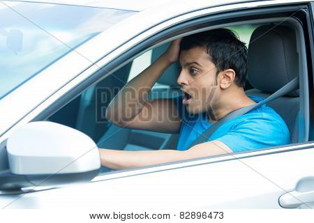 Shocked Driver