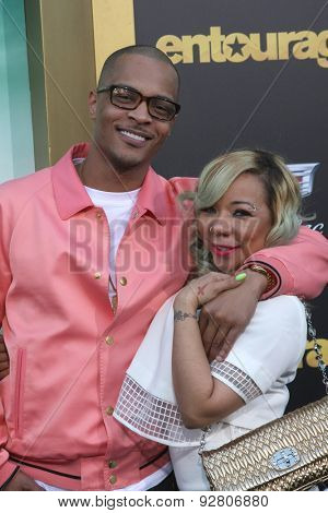 LOS ANGELES - MAY 27:  T.I., Tameka Cottle at the