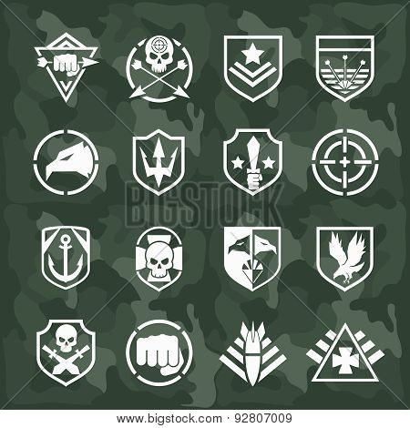 Vector military symbol icons