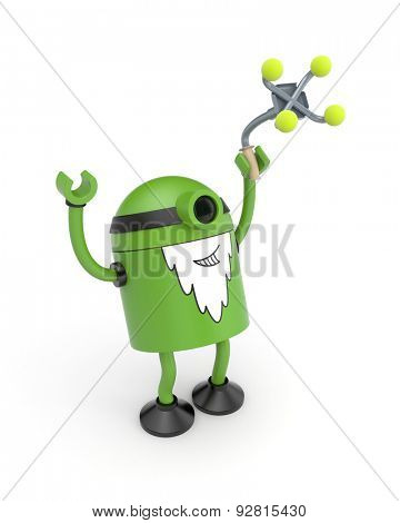 Old green robot rejoice