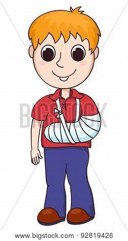 Cute Boy With The Broken Arm.