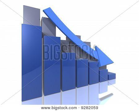 Bar graph descending - perspective view