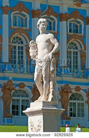 Tsarskoye Selo (Pushkin), Saint-Petersburg, Russia. Perseus Statue