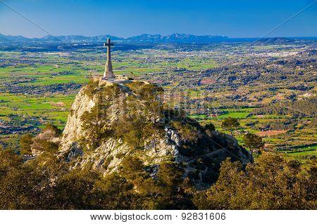Cross At The Santuario De San Salvador