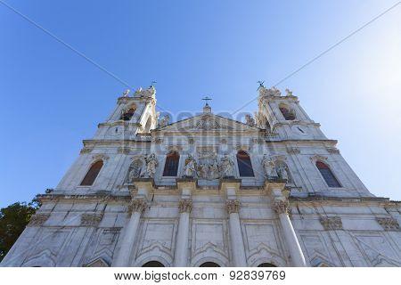 Entrance To The Basilica Da Estrela