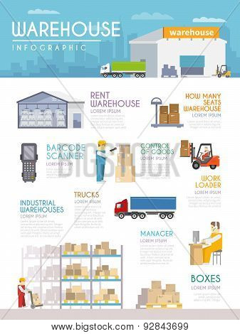 Warehouse Infographics Set