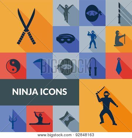 Ninja Icons Black Set