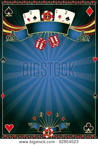 blue Casino. A poster for your poker tournament