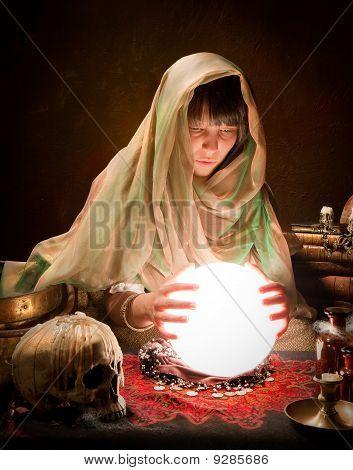 Astrology Gypsy With Crystal Ball