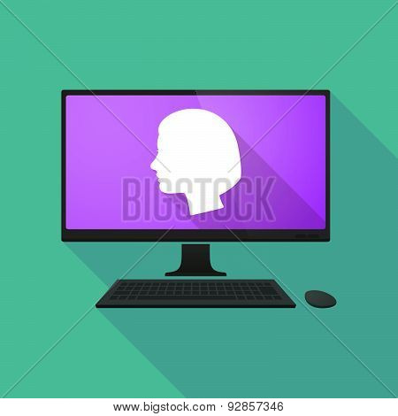 Personal Computer With A Female Head