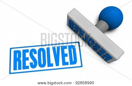 Resolved Stamp or Chop on Paper Concept in 3d