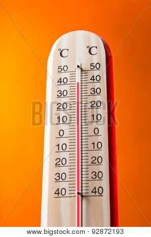 Celsius thermomether with hot background