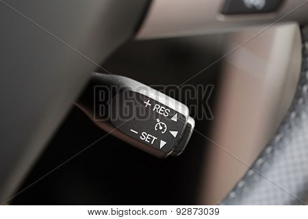 Car interior with light switch poster
