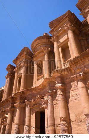 The abandoned city of Petra in Jordan