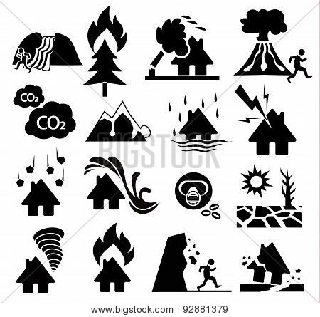 Natural Disaster Icon Set