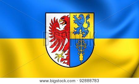 Flag Of The Altmarkkreis Salzwedel, Germany.