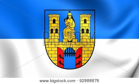 Flag Of The Burg Bei Magdeburg, Germany.