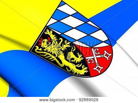 Flag Of Upper Palatinate, Germany.