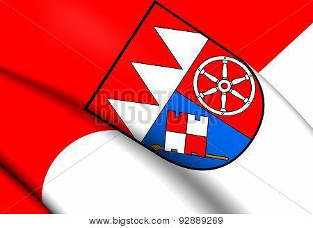 Flag Of Lower Franconia, Germany.