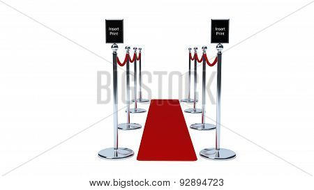 Rope barriers with red rope