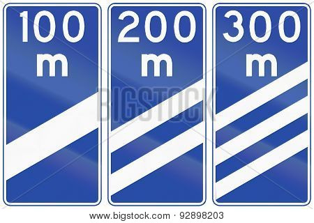 Highway Countdown Markers In Chile