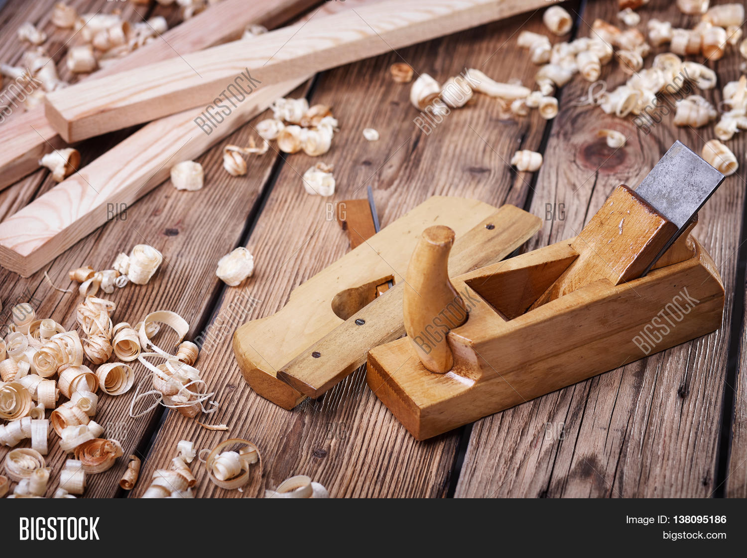 Wood Building Products : Wooden planer table old wood image photo bigstock