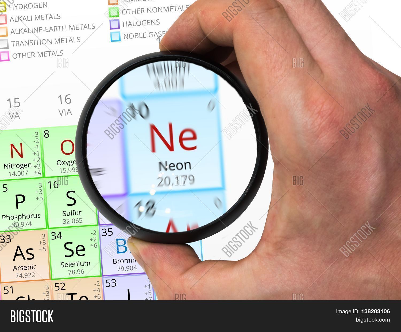 Neon symbol ne element periodic image photo bigstock neon symbol ne element of the periodic table zoomed with magn buycottarizona Images