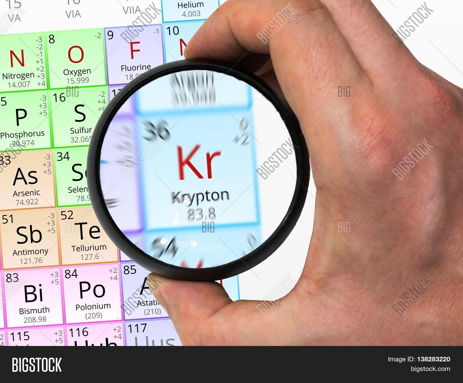 Krypton symbol kr element image photo bigstock krypton symbol kr element of the periodic table zoomed with m buycottarizona