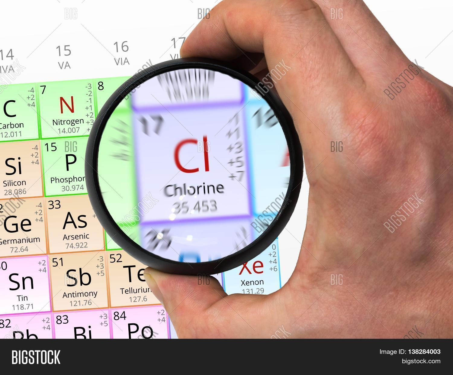 Chlorine Symbol Cl Image Photo Free Trial Bigstock