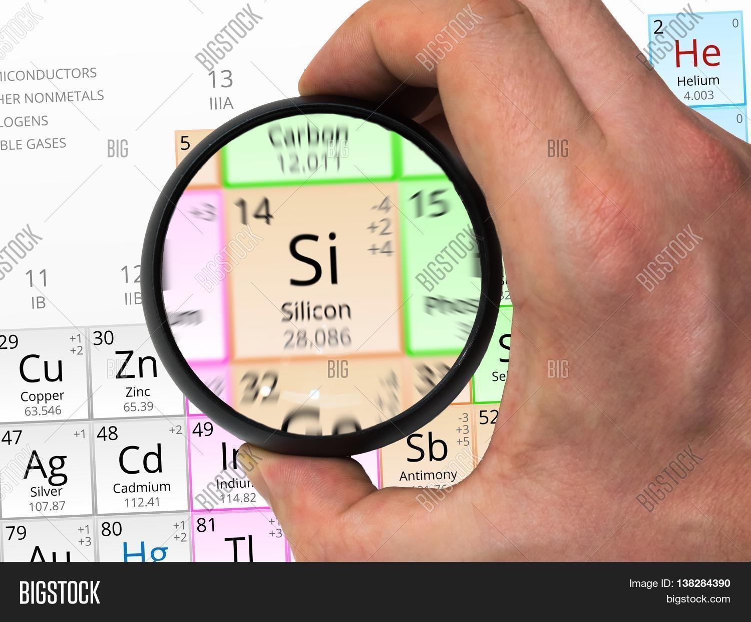 Silicon Symbol Si Image Photo Free Trial Bigstock