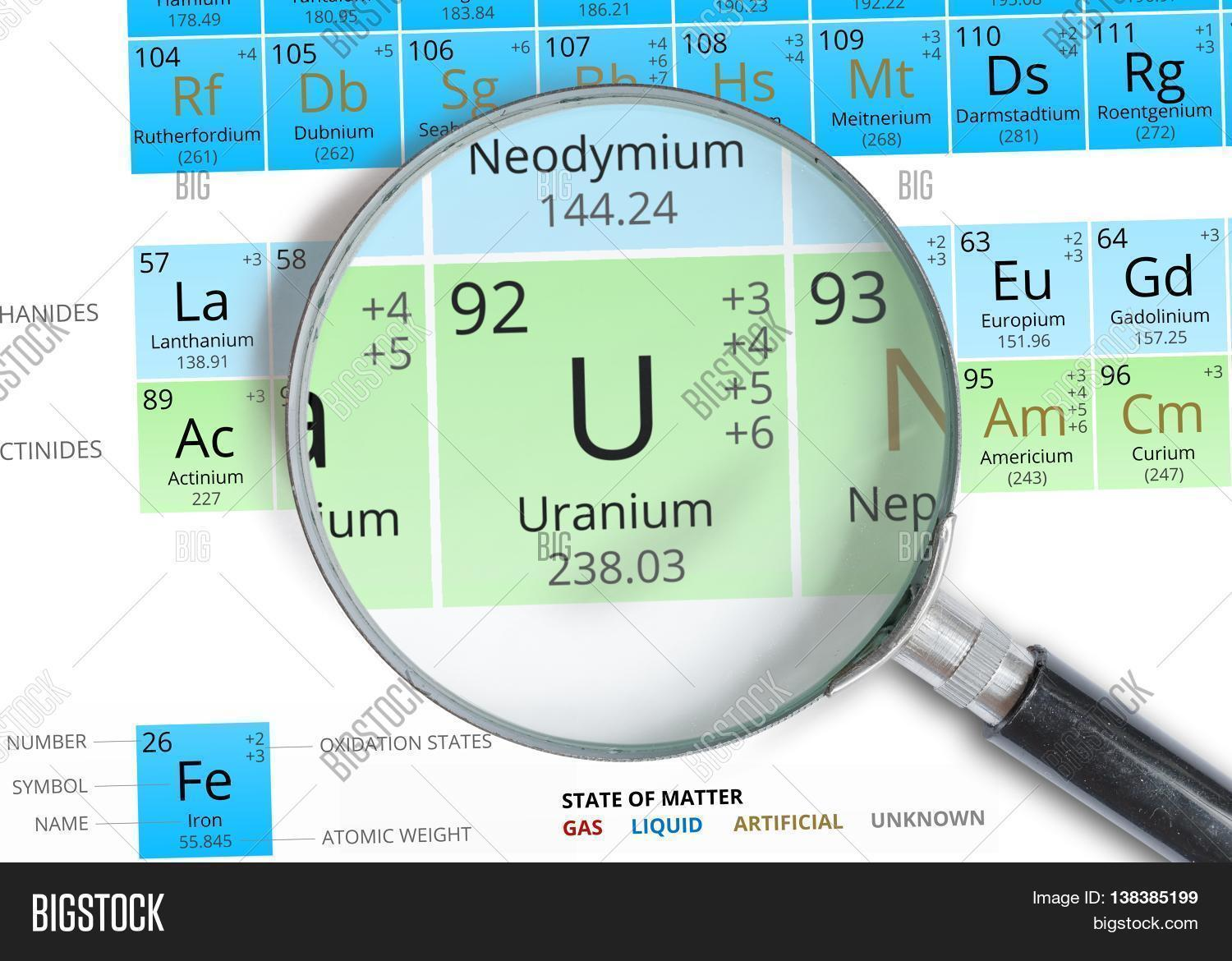 Uranium symbol u image photo free trial bigstock uranium symbol u element of the periodic table zoomed with ma urtaz Gallery