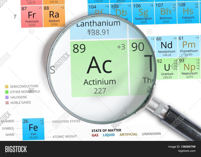 Actinium Symbol Ac Image Photo Free Trial Bigstock