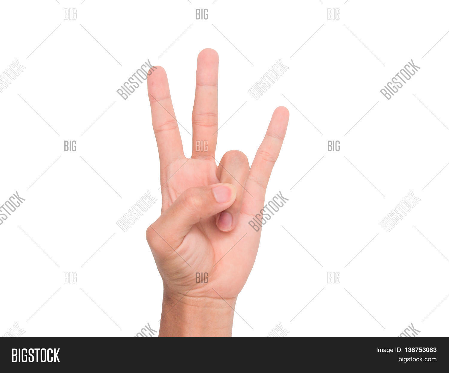 Hand sign 3 fingers point upward image photo bigstock a hand sign of 3 fingers point upward meaning three third etc with biocorpaavc Image collections