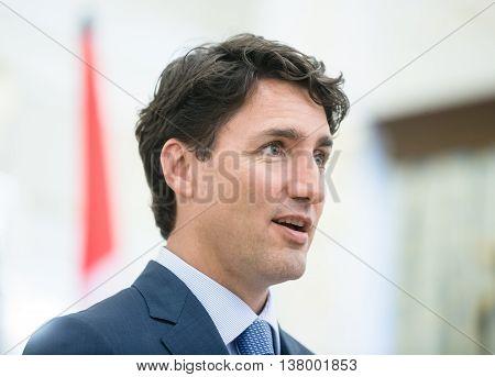 Prime Minister Of Canada Justin Trudeau