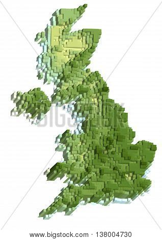 uk abstract map isolted on white background
