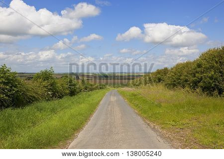 Road With View Of Yorkshire Wolds