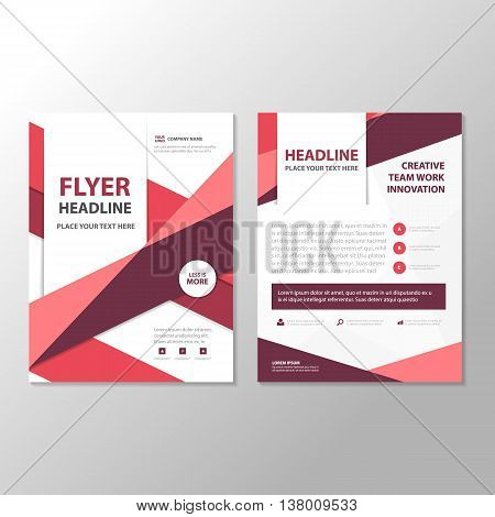Purple triangle Abstract Brochure Flyer Leaflet annual report template design book cover layout design abstract business presentation template a4 size design
