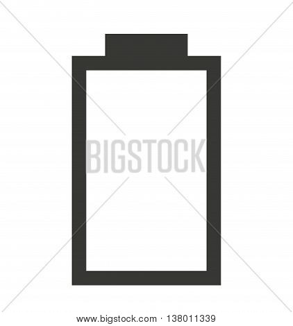 low Battery status isolated icon design, vector illustration  graphic