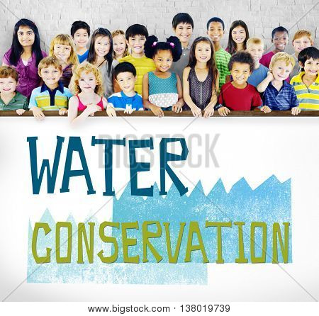 Water Conservation Environmental Issue Problem Concept