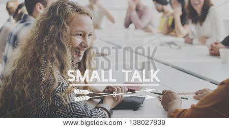 Small Talk Group Discussion Speaking Concept