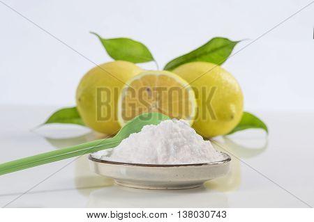 baking soda sodium bicarbonate and lemon for many uses