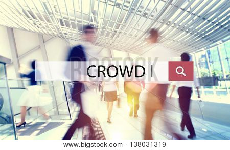 Crowd Group of People Mob Unstructured Crowdsourcing Concept